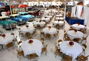 The Kokomo Auto Museum offers a unique venue for receptions and parties