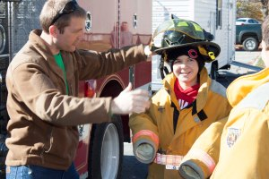 At last year's event, youngsters got to try on firemen's gear