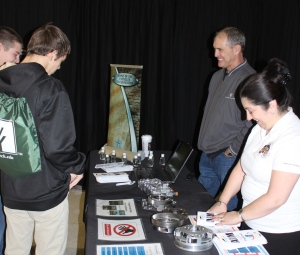 "Jim Woolf, lead of Community Outreach & Educational Engagement for Fiat Chrysler Automobiles in Kokomo, shared information with ""employees of the future"""