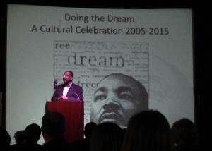 LeVar Burton speaking at Feb. 5 community banquet