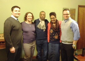 LeVar Burton with Doing the Dream co-chairs Leo Studach, Emily Getty, Amber Williams and Robb Haywood