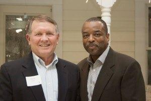 Chancellor Emeritus Steve Daily, with LeVar Burton, started the annual celebration