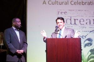 Chancellor David Bathe thanked the 2015 Doing the Dream speaker