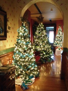 Ivy Tech has festively decorated the Seiberling's second-floor foyer