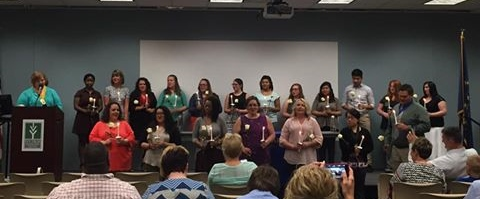 April 19 induction of new members into Logansport Chapter of Phi Theta Kappa