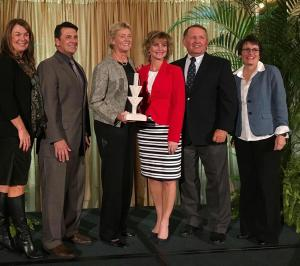 Ivy Tech Kokomo Region representatives Kelly Karickhoff, David Bathe, Benefactor of the Year Jean Neel, Michelle Simmons, Steve Daily, and Miriam Thomas